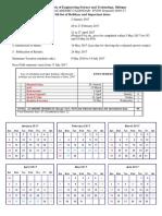 Calendar EVENSEMESTER 16 17 Proposed