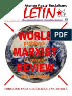 Boletin del Ateneo Paz y Socialismo de Abril de 2017