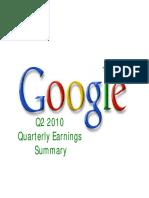 2010 Q2 Google Earnings Slides