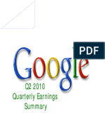 2010 Q2 Google Earnings Slides