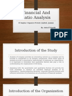 Powerpoint Presentation on Financial & Ratio Analysis of Pharmaceutical Company
