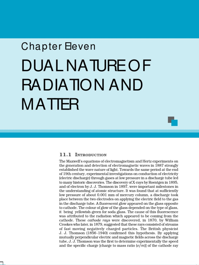 Dual Nature of Radiation and Matter | Photoelectric Effect | Photon