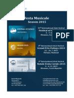 Festa Musicale Festival Season 2015