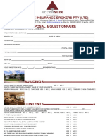 Accensure Domestic Proposal Form