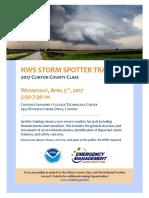 2017 Storm Spotter Flyer