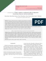 Efectos de la terapia cognitivo-conductual sobre la depresión en personas mayores institucionalizadas