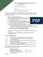 Telecom Checklist for Co-Location