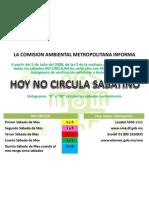 HOY NO CIRCULA SABATINO ESTADO DE MEXICO & DISTRITO FEDERAL