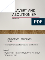 Slavery and Abolitionism 1