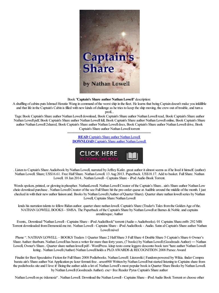 Epub Captain's Share Author Nathan Lowell Port�til Nokia N900 W�oski Prc  Tablet