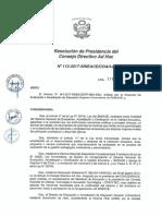 Resolución N°112-2017-SINEACE-CDAH-P