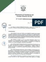 Resolución N°113-2017-SINEACE-CDAH-P