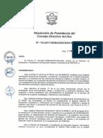Resolución N°110-2017-SINEACE-CDAH-P