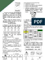 Avaliação Bimestral de Matemática - 2º Bimestre 2010