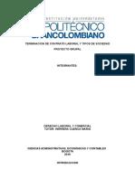 TERMINACION DE CONTRATO LABORAL Y TIPOS DE SOCIEDAD 3 ENTREGA