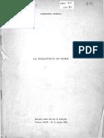 Bobbio Dialettica in Marx