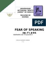 Fear of Speaking in Class 2.0