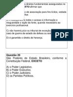 Exercícios - Constitucional (Direitos Fundamentais)