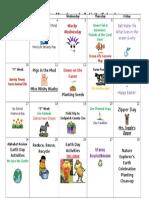 April 2017 Activity Calendar