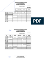 UNEXPO VRP Horarios Asignaturas Ing. Industrial Lapso 2017-1