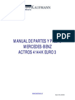 Manual Partes Mercedes Actros 4144K