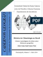 Genese e Geografia Do Clima No Brasil