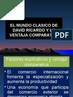 Mundo Clasico de David Ricardo y La Ventaja Comparativa 2016 Ecintern