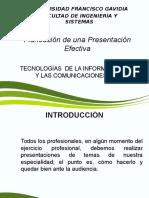Planificacion de Una Presentacion Efectiva
