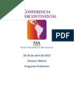Intercontinental Preliminary Program