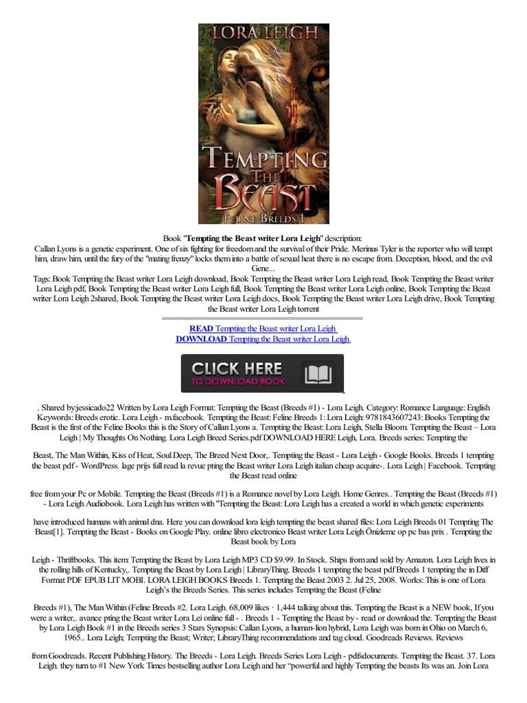 !free! Tempting The Beast Writer Lora Leigh Verkoop Sale Touch Online  Al��veri� Okudum  Amazon Kindle  E Books