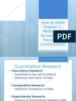 How to Write Chapter 3 - Methods of Research and Procedures (Continuation)