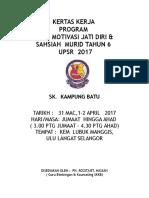 Kertas Kerja Kem Motivasi Jati Diri & Sahsiah Murid Tahun 6&5 2017