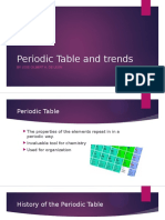 Periodic Table and Trends