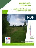 Prise en Compte La Biodiversité Dans Les Projets d'EcoQuartier