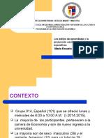 Los Estilos de Aprendizaje y La Producción Escrita de Textos Expositivos