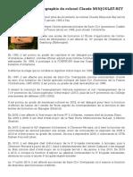 Biographie Du Colonel Minjoulat-Rey