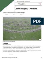 Rujm El-Hiri (Golan Heights) - Ancient Observatory
