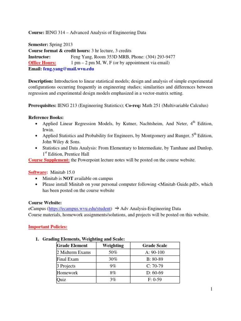 IENG314(3) | Regression Analysis (14 views)
