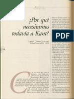 Porque Necesitamos Todavía a Kant