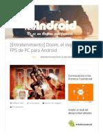 Doom, El Viejo Clásico FPS de PC Para Android