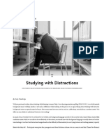 Studying With Distractions — the Learning Scientists
