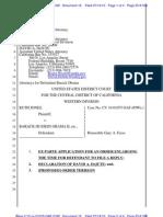 JONES v OBAMA - 16 - EX PARTE APPLICATION for Order for Enlarging The Time For Defendant To File A Reply  - Gov.uscourts.cacd.465143.16.0