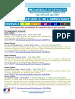 Liste Complète - Livres en Français Facile Par Niveaux - Nouvelles Acquisitions - Octobre 2013