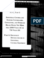 Ics 2 Part 8 Industrial Control and Systems Controllers, Contactors, And Overload Relays Rated Not More Than 2000 Volts Ac or 750 Volts Dc