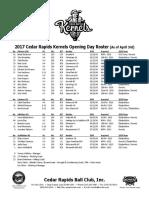 4-03 Kernels OD Roster.pdf
