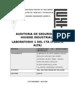 Auditoria de Seguridad e Higiene Industrial