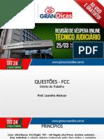 Leandro Alencar - TRT 24 (Técnico Judiciário)
