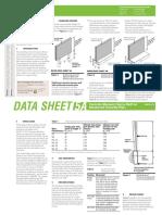 CMAA Datasheet 5A Fences on Reinforced Concrete Piers
