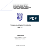 Programa de Mantenimiento Grupo 7 (Bombas Reciprocantes)