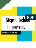 steps to school improvement